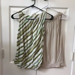 2 sleeveless summer tops